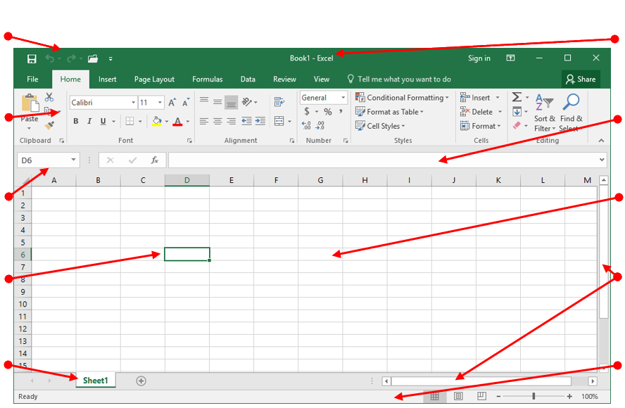 Excel Program Window
